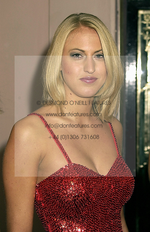 LADY PORTIA AGAR at a ball in London on 20th October 2000.OIB 46