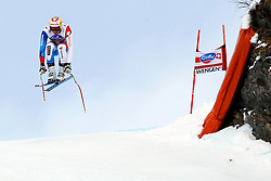19.01.2013, Lauberhornabfahrt, Wengen, SUI, FIS Weltcup Ski Alpin, Abfahrt, Herren, im Bild Vitus Lueoend (SUI) // in action during mens downhillrace of FIS Ski Alpine World Cup at the Lauberhorn downhill course, Wengen, Switzerland on 2013/01/19. EXPA Pictures © 2013, PhotoCredit: EXPA/ Freshfocus/ Gerard Berthoud..***** ATTENTION - for AUT, SLO, CRO, SRB, BIH only *****