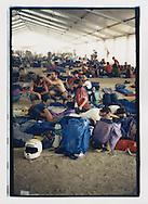 Proteste contro il summit del G8, Genova luglio 2001. 19 Luglio. Allo stadio Carlini.