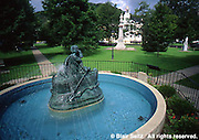 Court house park fountain and statue, Wellsboro, Tioga Co., PA