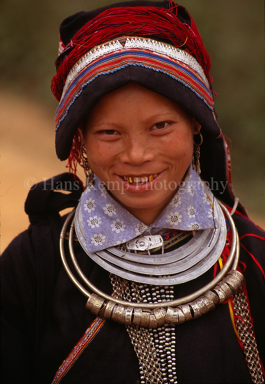 A girl belonging to one of the 54 ethnic minorities of Vietnam.
