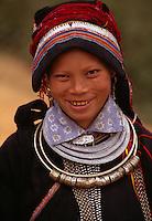 A girl belonging to one of the 54 ethnic minorities of Vietnam.