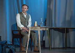 Pictured: Cal MacAninch on stage as John Muir<br /> <br /> The community in Portobello came out last night in support of a locally organised campaign to try and save a local church and its attached church hall for the community. No longer needed by the church, who plan to sell it, the hall is widely used by community groups. The campaign hopes to make use of Scottish community buy-out legislation that has recently been extended to cover urban areas in one fo the first such campaigns in a Scottish urban area. Local film acting couple, Shauna Macdonald and Cal MacAninch, were instrumental in the event that featured a variety of local talent and was attended by about 150 people, packing out the church hall. Shauna brought the show together, along with her sister Kyrsta, and Cal performed on stage in both the specially written short play that opened the evening and singing with the band Hooseband at the show's finale.  <br /> <br /> <br /> <br /> <br /> © Jon Davey/ EEm