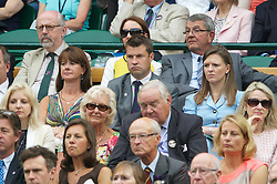 LONDON, ENGLAND - Friday, June 28, 2013: Barry Cowan in the Royal Box during the Ladies' Singles 2nd Round match on day five of the Wimbledon Lawn Tennis Championships at the All England Lawn Tennis and Croquet Club. (Pic by David Rawcliffe/Propaganda)