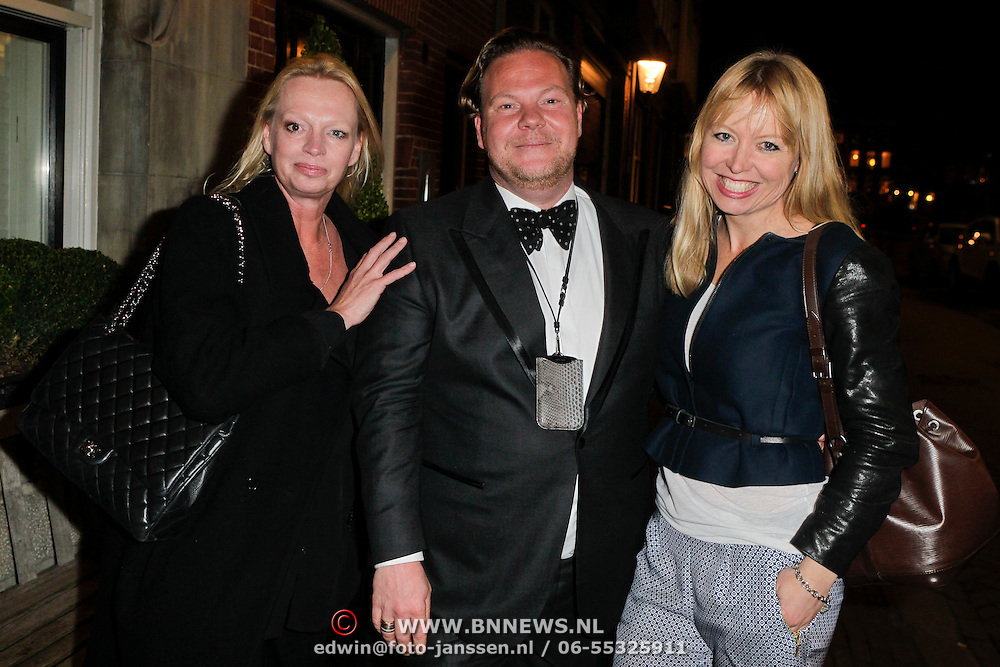 NLD/Amsterdam/20120308 - Presentatie nieuwe collectie voor Louis Vuitton, hoofdredactrice Karin Swerink, hoofdredacteur Bas van Schaik en  hoofdredactrice Hilmar Mulder