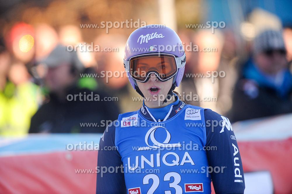 28.12.2015, Hochstein, Lienz, AUT, FIS Weltcup Ski Alpin, Lienz, Riesenslalom, Damen, 2. Durchgang, im Bild Elena Curtoni (ITA) // Elena Curtoni (ITA) reacts after her 2nd run of ladies Giant Slalom of the Lienz FIS Ski Alpine World Cup at the Hochstein in Lienz, Austria on 2015/12/28. EXPA Pictures © 2015, PhotoCredit: EXPA/ Erich Spiess