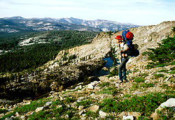 California: Backpacking the Mokelumne Wilderness.  Photo cawild101..Photo copyright Lee Foster, 510/549-2202, lee@fostertravel.com, www.fostertravel.com.