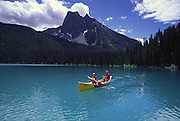 Canoeing, Emerald Lake, British Columbia, Canada<br />