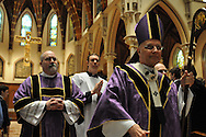 Chicago Archbishop Francis Cardinal George greets students and staff from Catholic high schools in the Archdiocese of Chicago and the Diocese of Rockford and Joliet following a mass at Holy Name Cathedral to promote service leadership in the church.
