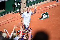 Guy FORGET - 23.05.2015 - Tennis - Journee des enfants - Roland Garros 2015<br /> Photo : David Winter / Icon Sport