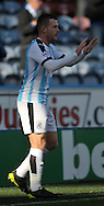 Harry Bunn of Huddersfield Towncelebrates scoring the equaliser against Derby County during the Sky Bet Championship match at the John Smiths Stadium, Huddersfield<br /> Picture by Graham Crowther/Focus Images Ltd +44 7763 140036<br /> 24/10/2015