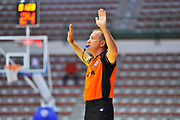 """DESCRIZIONE : Torneo Città di Sassari """"Mimì Anselmi"""" Lokomotiv Kuban Krasnodar - Enel Brindisi<br /> GIOCATORE : Massimiliano Filippini<br /> CATEGORIA : Arbitro Referee Tiro Libero<br /> SQUADRA : AIAP<br /> EVENTO :  Torneo Città di Sassari """"Mimì Anselmi"""" <br /> GARA : Lokomotiv Kuban Krasnodar - Enel Brindisi<br /> DATA : 14/09/2014<br /> SPORT : Pallacanestro <br /> AUTORE : Agenzia Ciamillo-Castoria / Luigi Canu<br /> Galleria : Precampionato 2014/2015<br /> Fotonotizia : Torneo Città di Sassari """"Mimì Anselmi"""" Lokomotiv Kuban Krasnodar - Enel Brindisi<br /> Predefinita :"""
