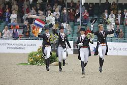 Team Netherlands Gold Medal<br /> Gal Edward, Schellekens Imke, Cornelissen Adelinde, Van Grunsven Anky<br /> European Championship Dressage Windsor 2009<br /> © Hippo Foto - Dirk Caremans