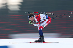 10.03.2016, Holmenkollen, Oslo, NOR, IBU Weltmeisterschaft Biathlion, Oslo, 20km, Herren, im Bild Scott Dixon (GBR) // during Mens 20km individual Race of the IBU World Championships, Oslo 2016 at the Holmenkollen in Oslo, Norway on 2016/03/10. EXPA Pictures © 2016, PhotoCredit: EXPA/ Newspix/ Tomasz Jastrzebowski<br /> <br /> *****ATTENTION - for AUT, SLO, CRO, SRB, BIH, MAZ, TUR, SUI, SWE only*****