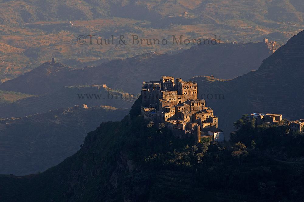 Yemen, région des Hauts Plateaux, villages de la region de Al Mahwit // Yemen, central mountains, village around Al Mahwit.
