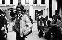 African - American teenagers in Harlem-1984