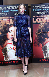 Amanda Seyfried arriving at a special screening of her new film Lovelace, in London, Monday, 12th August 2013. Picture by Stephen Lock / i-Images