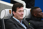 A pensive looking Charlton Athletic interim head coach Karel Fraeye during the Sky Bet Championship match between Brighton and Hove Albion and Charlton Athletic at the American Express Community Stadium, Brighton and Hove, England on 5 December 2015. Photo by Bennett Dean.