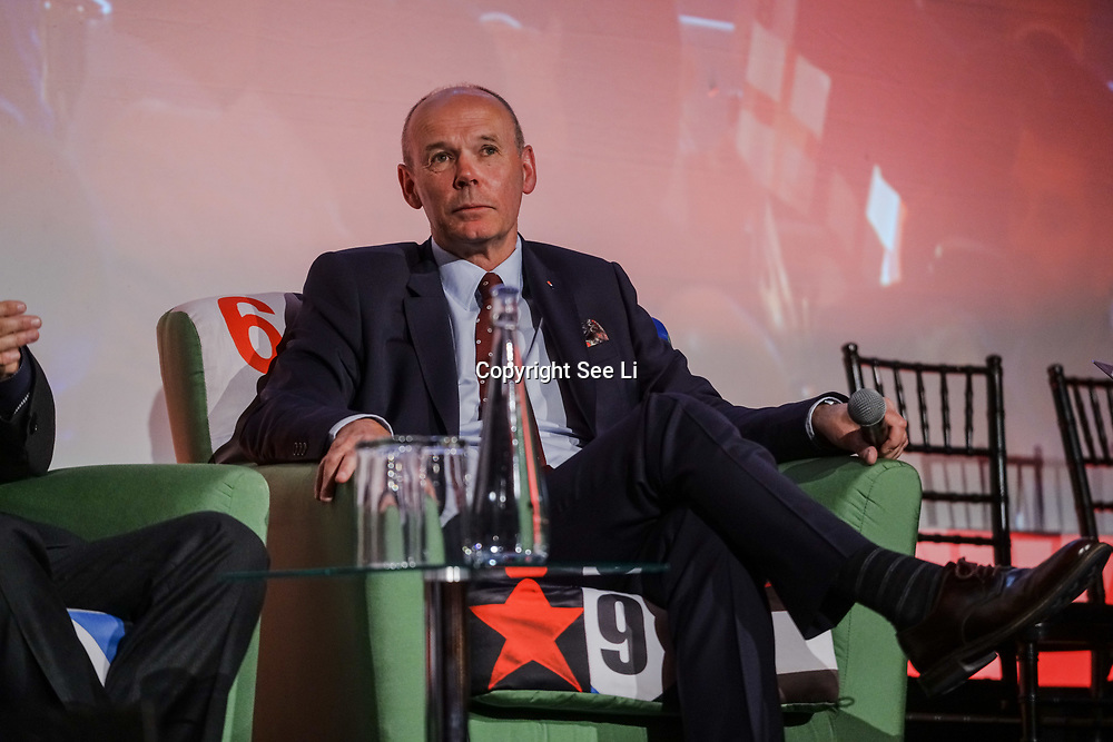 The Brewery,London,England,UK.21th April 2017. Speaker Sir Clive Woodward at the Pride of St George at The Brewery. by See Li