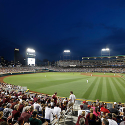 Jun 24, 2013; Omaha, NE, USA; General view of TD Ameritrade Park during the sixth inning in game 1 of the College World Series finals between the UCLA Bruins and the Mississippi State Bulldogs. Mandatory Credit: Derick E. Hingle-USA TODAY Sports