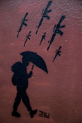 Graffitis und Street Art in Bogota / 220916<br />