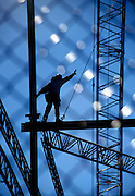 Steel construction worker