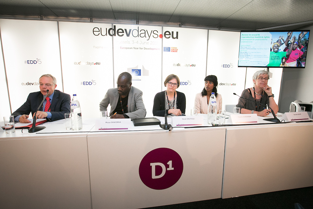 03 June 2015 - Belgium - Brussels - European Development Days - EDD - Health - Access to sexual and reproductive health and rights - A prerequisite for youth economic empowerment © European Union
