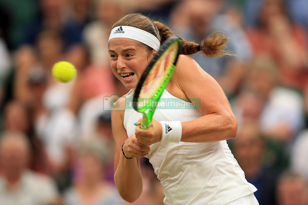 11 July 2017 -  Wimbledon Tennis (Day 8)  Jelena Ostapenko (LAT) in action during her quarter final match -- Photo: Marc Atkins / Offside.