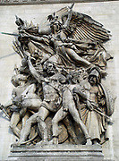 Le Départ de 1792 (La Marseillaise) is one of the four main sculptures of the monument are  The Arc de Triomphe is a monument in Paris. Claude Joseph Rouget de Lisle wrote 'La Marseillaise' in Strasbourg on 25 April 1792. Its original name was 'Chant de guerre pour l'Armée du Rhin' dedicated to Marshal Nicolas Luckner, a Bavarian-born French officer from Cham. It became the rallying call of the French Revolution and received its name because it was first sung on the streets by volunteers (fédérés) from Marseille upon their entry into Paris on 30 July 1792.