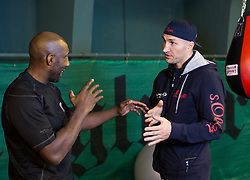 11.11.2015, Stanglwirt, Going, AUT, Wladimir Klitschko, Training, Kampfvorbereitung gegen Tyson Fury (GBR), im Bild v.l. Johnny Nelson, Wladimir Klitschko // Wladimir Klitschko ( L ) Johnny Nelson ( R ) during a training session in front of his Fight against Tyson Fury (GBR) at the Stanglwirt in Going, Austria on 2015/11/11. EXPA Pictures © 2015, PhotoCredit: EXPA/ Johann Groder