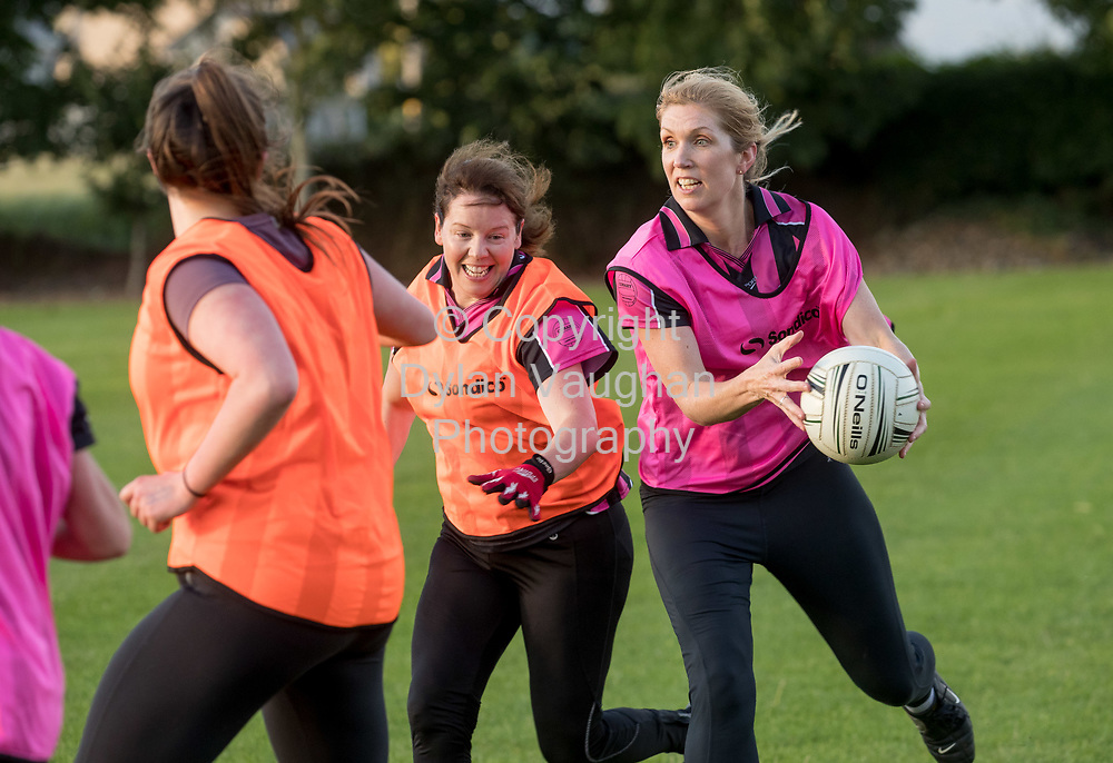 13-7-17<br /> The Ladies football team pictured at Conahy Shamrocks.<br /> <br /> Pictured is from left Claire Holohan and Bridget Rhatigan.<br /> <br /> Picture Dylan Vaughan.