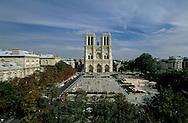 Paris. Notre Dame Cathedral main facade, city island  Paris  France