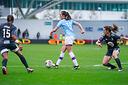 Manchester City Women forward Caroline Weir (19) passes the ball during the FA Women's Super League match between Manchester City Women and BIrmingham City Women at the Sport City Academy Stadium, Manchester, United Kingdom on 12 October 2019.