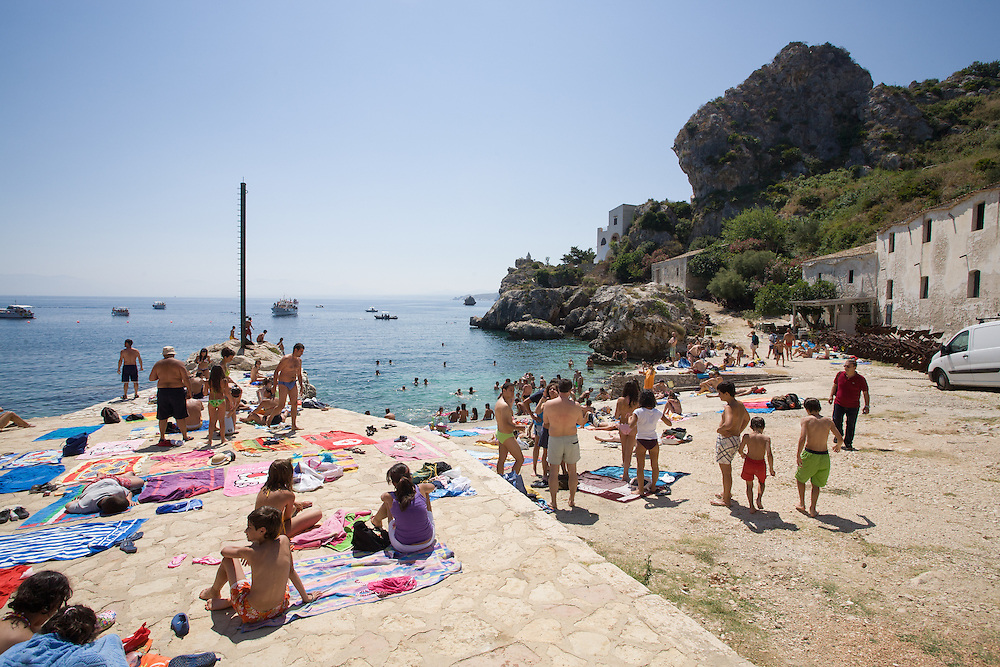 A photo of the beach in Scopello, Sicily, Italy