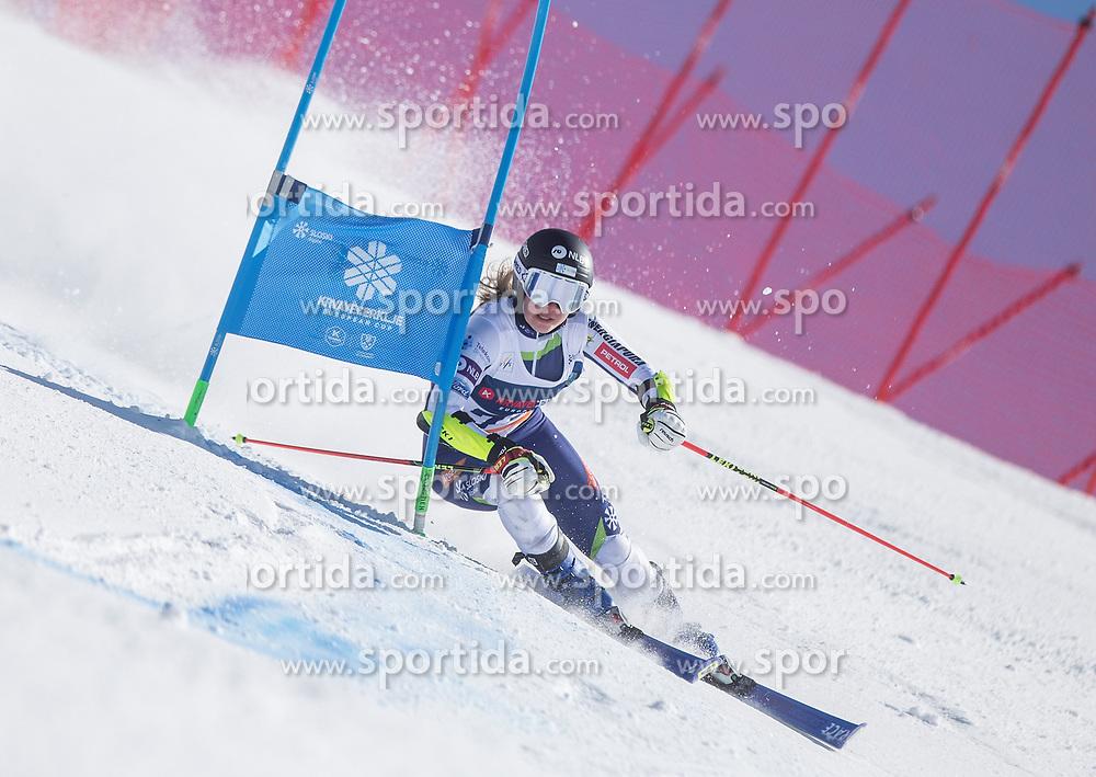 during the giant slalom for European Cup on 27.2.2020 on Krvavec, Cerklje na Gorenjskem, Slovenia. Photo by Urban Meglič / Sportida