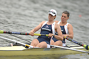 Amsterdam, HOLLAND, GBR W2- Bow Natasha HOWARD and Alison KNOWLES, move way from the start in his heat of the Women's Pair ,at the 2007 FISA World Cup Rd 2 at the Bosbaan Regatta Rowing Course. [Date] [Mandatory Credit: Peter Spurrier/Intersport-images]..... , Rowing Course: Bosbaan Rowing Course, Amsterdam, NETHERLANDS