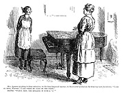"Mrs Symons (wishing to draw attention, in the time-honoured mannner, to the amount of dust on the drawing-room furniture). ""Look at that, Martha; I can write my name on the piano."" Martha. ""Fancy, now, you spelling it with a 'y.'"""