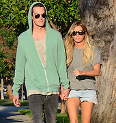 13.AUGUST.2013. LOS ANGELES<br /> <br /> ASHLEY TISDALE SHOWING HER ENGAGEMENT RING FOR THE FIRST TIME WHILE OUT WALKING WITH BOYFRIEND CHRISTOPHER FRENCH IN HOLLYWOOD, L.A.<br /> <br /> BYLINE: EDBIMAGEARCHIVE.CO.UK<br /> <br /> *THIS IMAGE IS STRICTLY FOR UK NEWSPAPERS AND MAGAZINES ONLY*<br /> *FOR WORLD WIDE SALES AND WEB USE PLEASE CONTACT EDBIMAGEARCHIVE - 0208 954 5968*