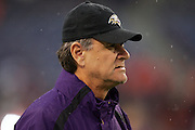 DENVER - OCTOBER 9:  Head Coach Brian Billick of the Baltimore Ravens surveys the field against the Denver Broncos at INVESCO Field at Mile High on October 9, 2006 in Denver, Colorado. The Broncos defeated the Ravens 13-3. ©Paul Anthony Spinelli *** Local Caption *** Brian Billick