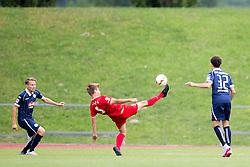 12.07.2015, Dolomitenstadion, Lienz, AUT, Testspiel, Arminia Bielefeld vs FC Zbrojovka Bruenn, im Bild v.l. Martin Chrien (FC Zbrojovka Bruenn), Samir Benamar (Arminia Bielefeld) // during a International Friendly Football Match between Arminia Bielefeld and FC Zbrojovka Bruenn at the Dolomitenstadion in Lienz, Austria on 2015/07/12. EXPA Pictures © 2015, PhotoCredit: EXPA/ Johann Groder