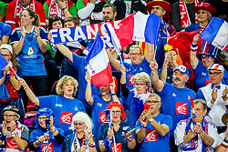 France fans during handball match between National teams of Austria and France on Day 3 in Preliminary Round of Men's EHF EURO 2018, on January 14, 2018 in Arena Zatika, Porec, Croatia. Photo by Ziga Zupan / Sportida