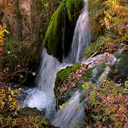 Spearfish Canyon waterfall in The Black Hills of South Dakota in October 2005. (Christina Paolucci, photographer)