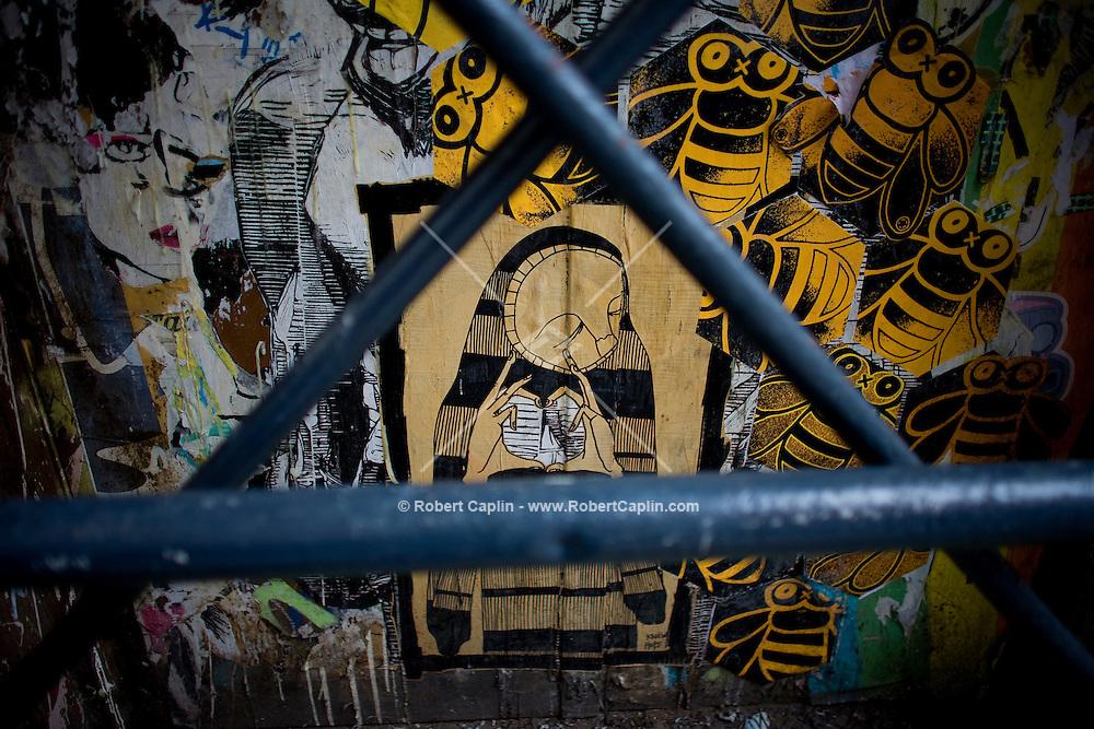 SoHo street art world. For Seth Kugel's Weekend in New York column. Photographer: Robert Caplin For The New York TImes..