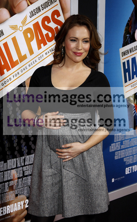 Alyssa Milano at the Los Angeles premiere of 'Hall Pass' held at the ArcLight Cinemas in Hollywood on February 23, 2011. Credit: Lumeimages.com