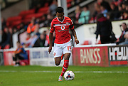 Walsall defender, Rico Henry on the wing during the Capital One Cup match between Walsall and Brighton and Hove Albion at the Banks's Stadium, Walsall, England on 25 August 2015.