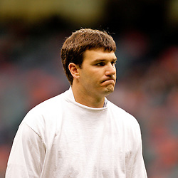 Nov 08, 2009; New Orleans, LA, USA; Carolina Panthers quarterback Jake Delhomme in warm ups prior to kickoff against the New Orleans Saints at the Louisiana Superdome. Mandatory Credit: Derick E. Hingle