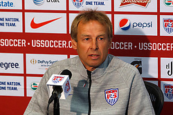 PALO ALTO, CA - MAY 23:  U.S. Men's National Soccer Team Head Coach Jurgen Klinsmann speaks during a press conference at Stanford University on May 23, 2014 in Palo Alto, California.  (Photo by Jason O. Watson/Getty Images) *** Local Caption *** Jurgen Klinsmann