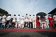 September 4, 2016: Drivers stand for the national anthem before the Italian Grand Prix , Italian Grand Prix at Monza
