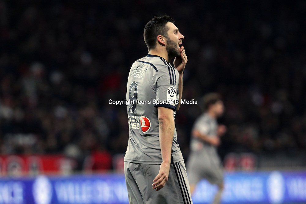 Andre Pierre GIGNAC  - 23.01.2015 - Nice / Marseille - 22eme journee de Ligue 1<br />Photo : Jean Christophe Magnenet / Icon Sport