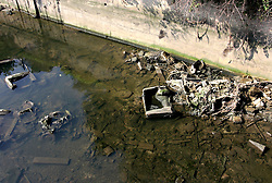 UK ENGLAND LONDON 17AUG05 - Dumped cars and rubbish litters the Lea river in Stratford, site to the planned Olympic Stadium and Village for the 2012 London Olympic Games. Winning the bid against rival Paris, the London Games are expected to return a £ 100 million surplus to the IOC and British sport...jre/Photo by Jiri Rezac ..© Jiri Rezac 2005..Contact: +44 (0) 7050 110 417.Mobile:  +44 (0) 7801 337 683.Office:  +44 (0) 20 8968 9635..Email:   jiri@jirirezac.com.Web:    www.jirirezac.com..© All images Jiri Rezac 2005 - All rights reserved.